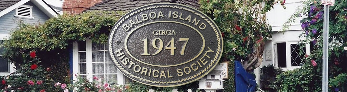 Balboa Island Historical Society Plaque
