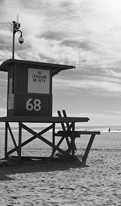 Lifeguard tower at Newport