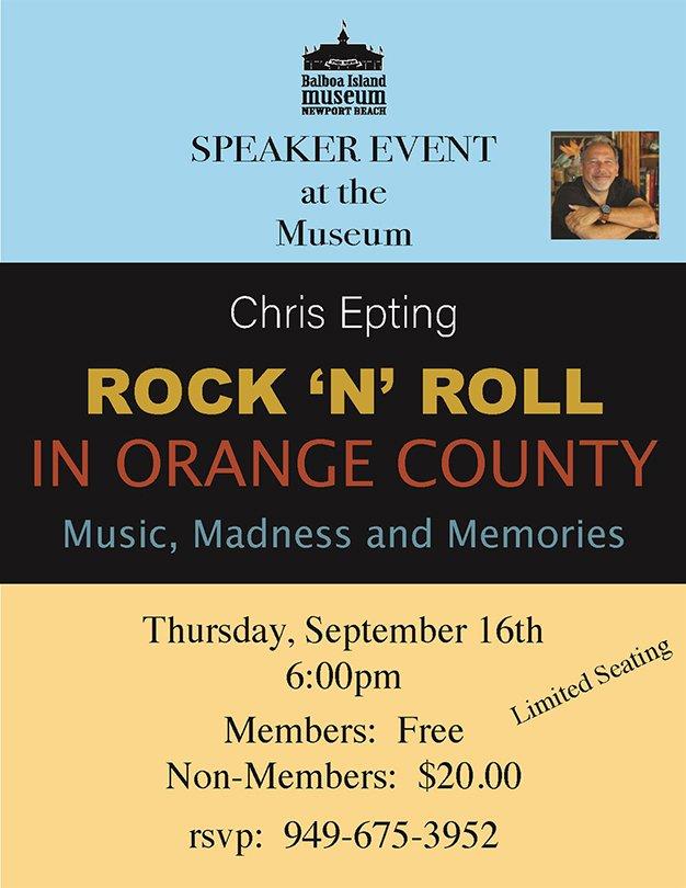 speaker event Chris Epting flyer